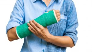 broken bone expected in an accident
